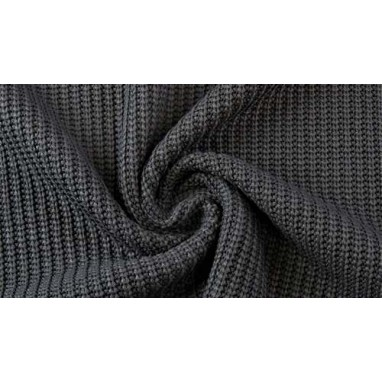 Cotton Knitted Cable Black