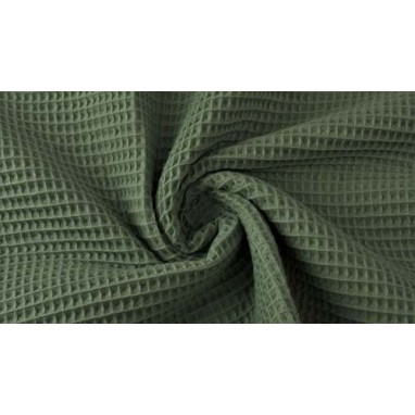 Cotton Waffle Army Green