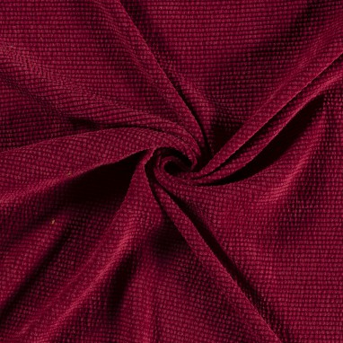 KNITTED FABRIC UNICOLOUR BORDEAUX