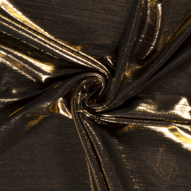 FOIL JERSEY FABRIC UNICOLOUR GOLD