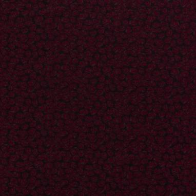 VISCOSE FABRIC DISCHARGE PRINTED FLOWERS DARK RED