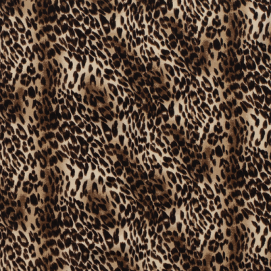CREPE FABRIC PRINTED ANIMALS DARK BROWN