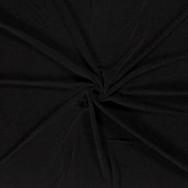 CHENILLE FABRIC UNICOLOUR BLACK