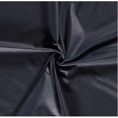 JERSEY FABRIC FOILED UNICOLOUR NAVY